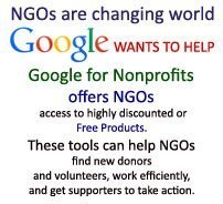Google Support to NGOs